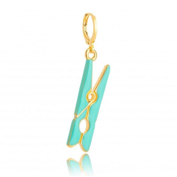 Pingente Gazin Prendedor Esmaltado Color Banhado a Ouro 18K 00012853
