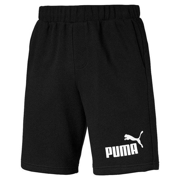 "Bermuda Moletom Puma Ess No.1 Logo Sweat 9"" Reta Masculina 838261"