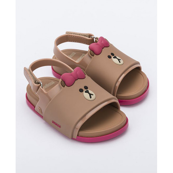 Mini Melissa Beach Slide Sandal + Line Friends 32919