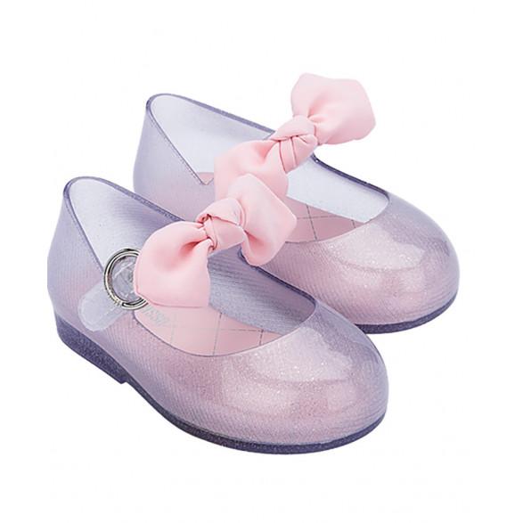 Sapatilha Mini Melissa Sweet Love Princess Bow BB 33348