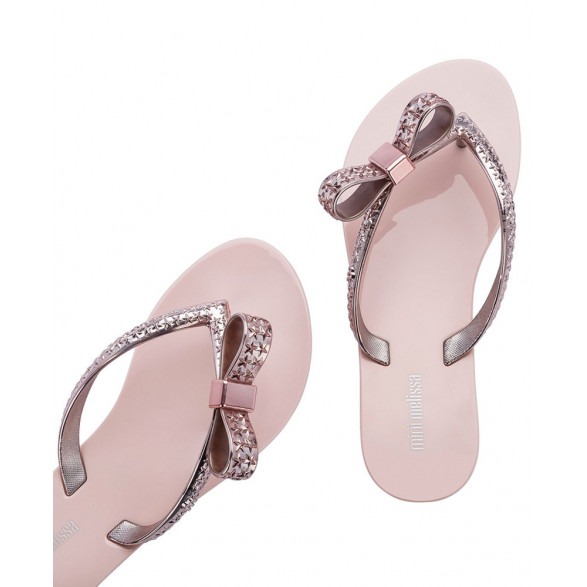 Chinelo Mini Melissa Harmonic Chrome Infantil 33255